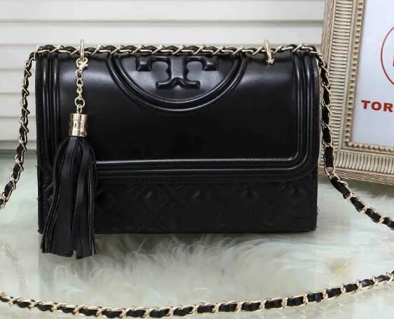 Brand Logo Women Bags Tassel Chain Leather ladies Crossbody Women Shoulder handbag Flap Bag T6020