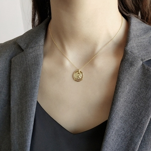 Image 2 - LouLeur 925 sterling silver Eternal love gold pendant necklace seas run dry rocks crumble creative neckalce for women jewelry