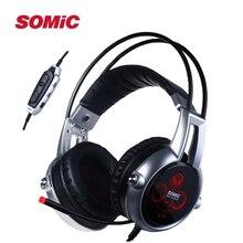 Authentic Sômica E95X 5.2 Multi-canal de Vibração Fone De Ouvido Super Bass fone de ouvido Com Cancelamento de Ruído Fone De Ouvido com LED, microfone Para PS4 Jogo FPS