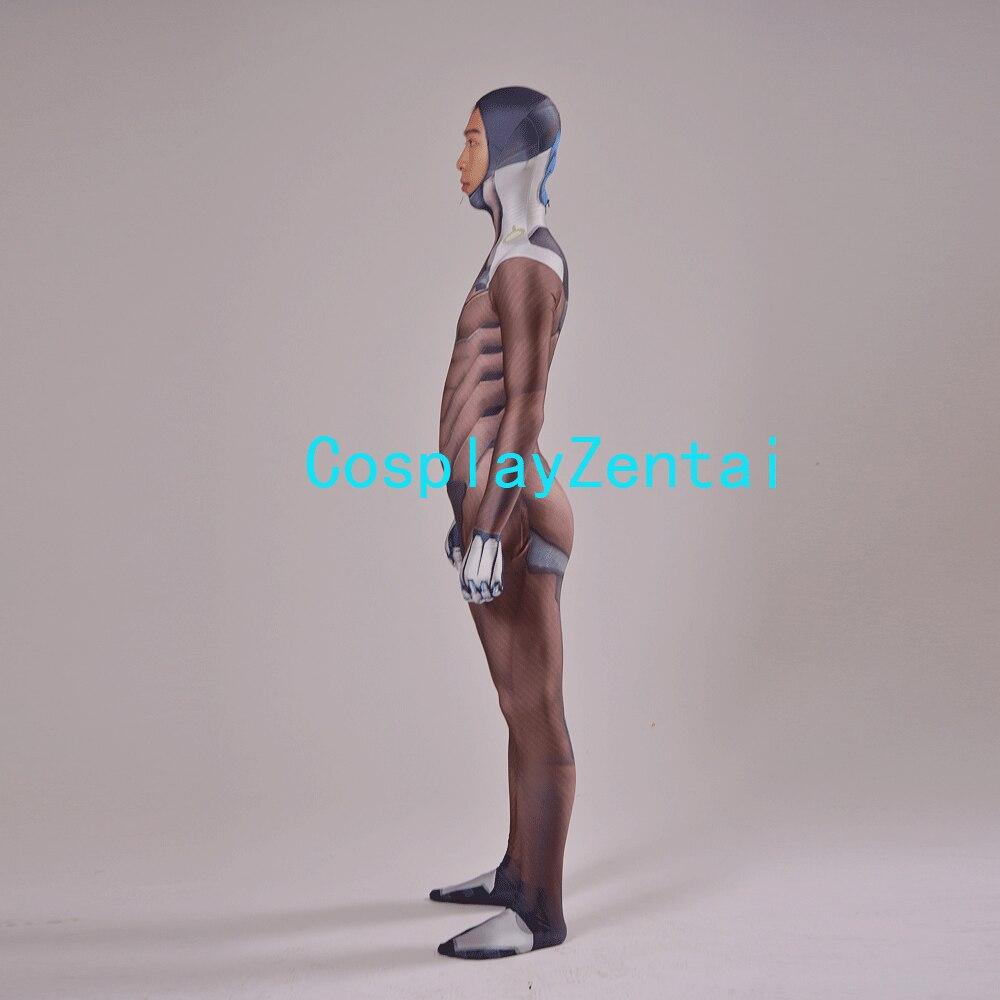 Gra Genji Cosplay Costume 3D Print Elastan Genji Zentai dla - Kostiumy - Zdjęcie 4