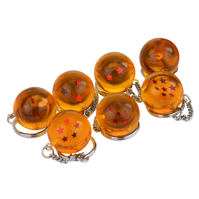 Anime Dragon Ball Z Keychain PVC 1-7 Stars Balls Figure Pendant Classic Cartoon Key Chain Holder Souvenirs Keyring Gift Man