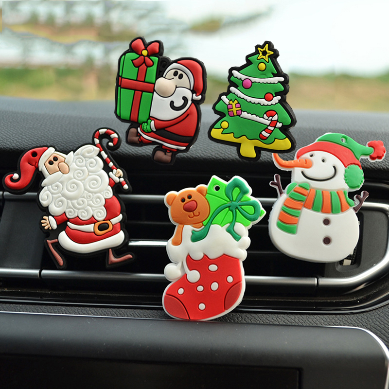Car Christmas Ornament Air Freshener Santa Claus Little Tree Snowman Smell Perfume Fragrance