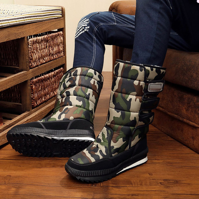 2017 snow boots Shoes men waterproof men's Winter boots Shoes outdoor warm Mans footwear fashion work shoes 1