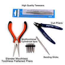 3D Metal Puzzle Tools Set High quality Cutting Nippers Scissors Long Nose Pliers  Tweezers Pencil Sharpener Buckle Bend Device