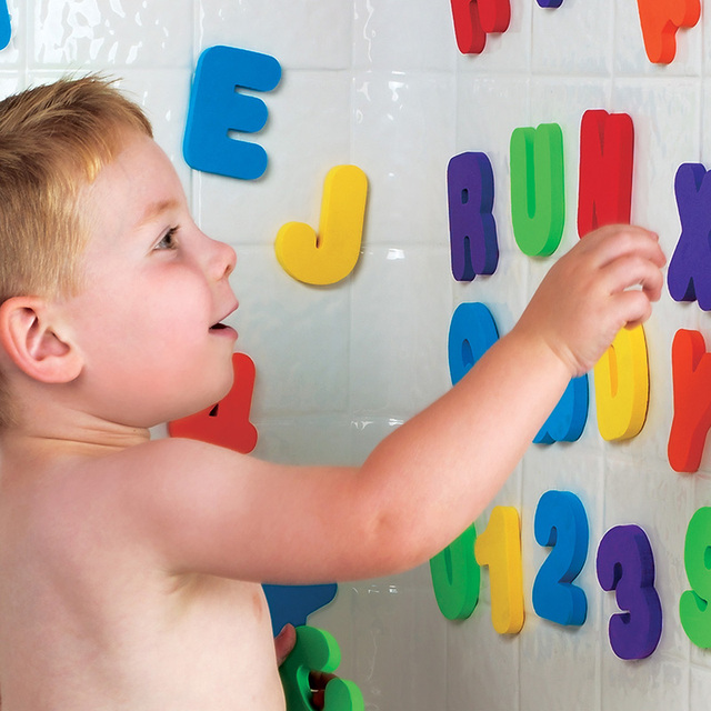 Letters and Numbers Kids Bath Toys