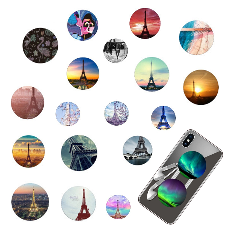 Essien tower Fashion pop cell Phone Holder Expanding Stand finger round holder for iPhone 8 7 6 X Tablets For Samsung a5 2017 s9