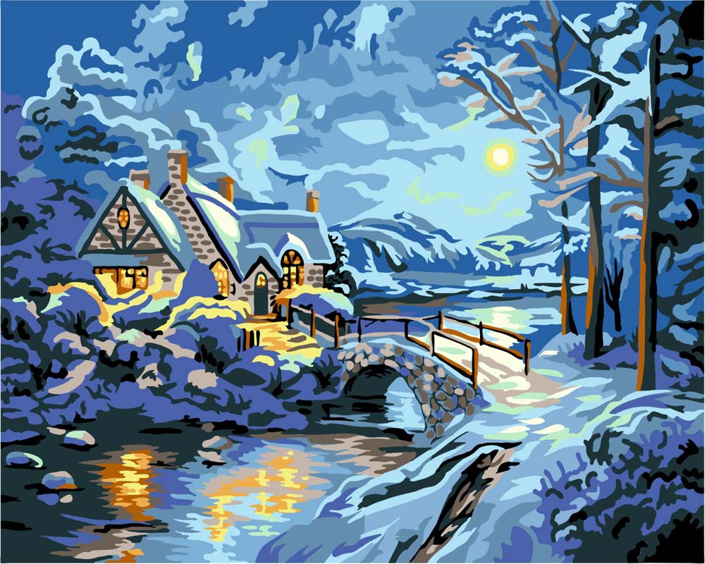 Magic New DIY Paint By Numbers kit Art Acrylic Painting On Canvas ...