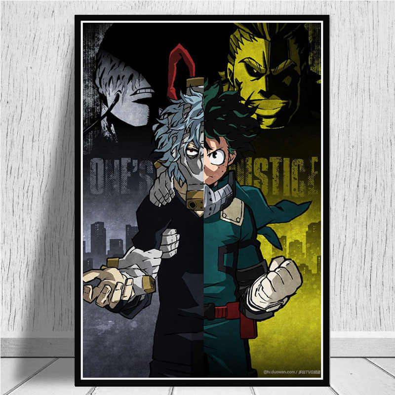 Boku Geen Hero Academia Poster Wall Art Foto Posters en Prints Canvas Schilderij voor Kamer Home Decor