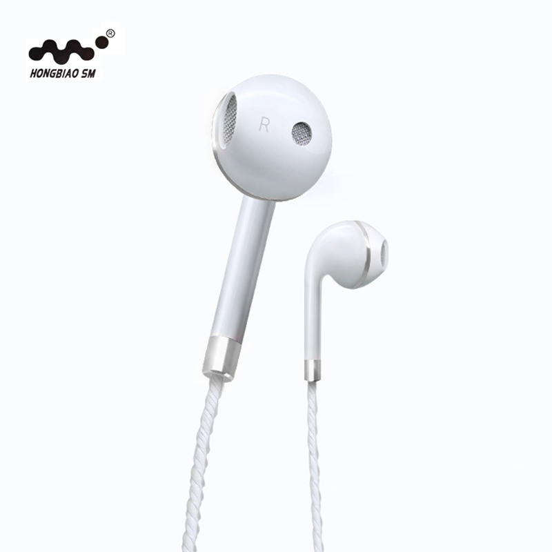 HONGBIAO SM Earphone For Apple Earbuds In-Ear Stereo Earphones Headset with Mic For Samsung iPhone 5 5S 6 fone de ouvido teamyo portable in ear earphone stereo music handsfree headset with mic volume control for samsung galaxy s2 s3 s4 note3 n7100