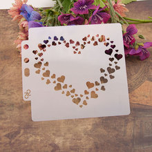 Many Love Heart Sticker Painting Stencils for Diy Scrapbooking Stamps Home Decor Paper Card Template Decoration Album Crafts Art merry christmas trees sticker painting stencils for diy scrapbooking stamps home decor paper card template decoration album
