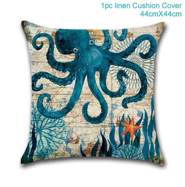 Octopus pillowcase Mermaid party plates 5c64f5cb2fb11