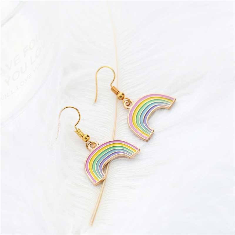 Fashion Rainbow Pendant Earring Rainbows jewelry Earrings for women jewelry Gift in Drop Earrings from Jewelry Accessories