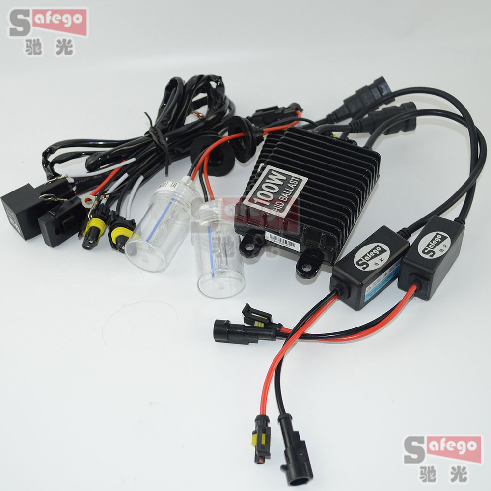1set 100W AC HID Xenon 100w kit car xenon H7 H4 H1 H3 H11 9005 9006 H8 H9 880 For Automotive Headlight buildreamen2 55w 9005 9006 h1 h3 h7 h8 h9 h11 880 881 hid xenon kit ac ballast bulb 10000k blue car headlight lamp fog light