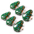 Kids Classic estaño Wind Up Clockwork Jumping Frog Vintage juguete para niños niños educativo envío gratis