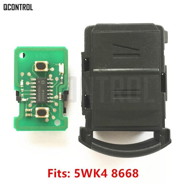QCONTROL Car Remote Key Head DIY for OPEL/VAUXHALL 5WK48668 AGILA MERIVA ASTRA CORSA C COMBO VAN TIGRA VECTRA 433MHz