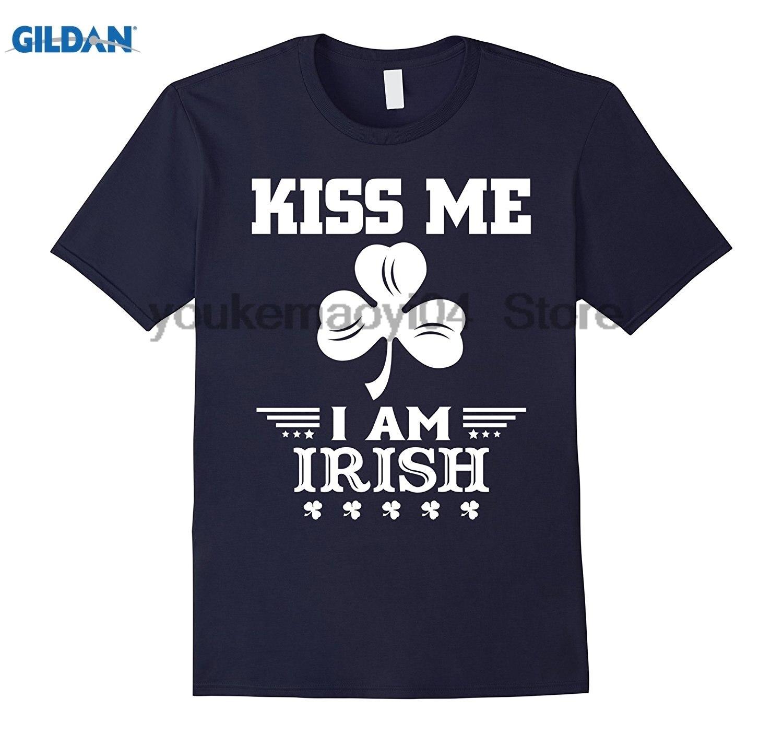 Возьмите Kiss Me Im ирландский рубашка St День Святого Патрика футболка новая хлопковая Футболка мужская Круглый воротник с короткими рукавами ...