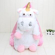 Einzelhandel 50 cm Despicable Me Despicable Me einhorn tasche plüsch unicorns rucksack spielzeug für mädchen kinder geburtstagsgeschenk