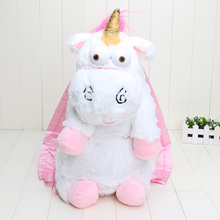 Retail 50 cm Despicable Me Despicable Me unicornio bolsa de unicornios mochila de juguetes de peluche para niños niñas de regalo de cumpleaños