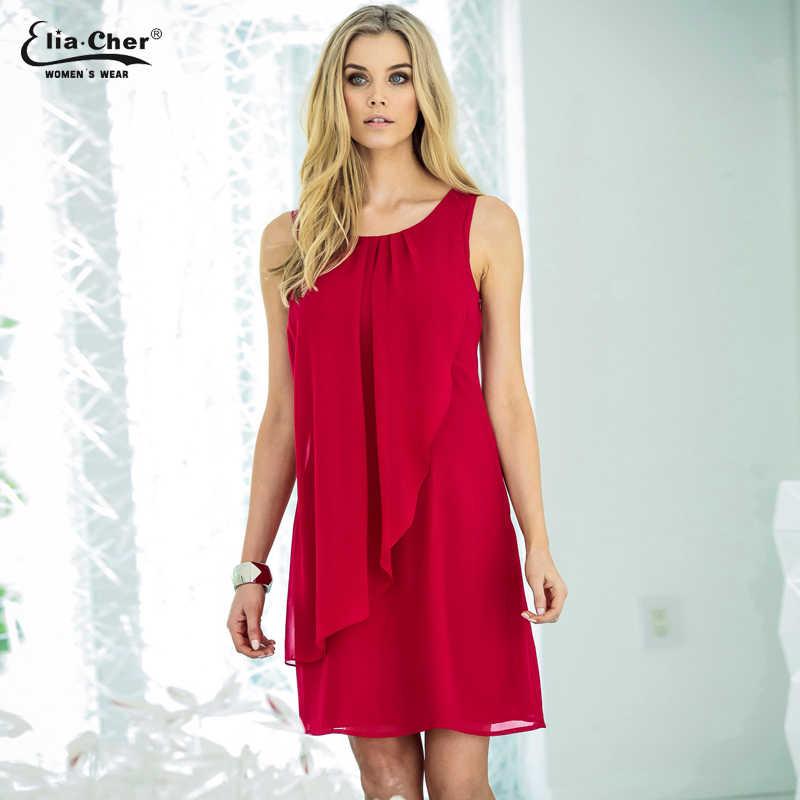 Chiffon Dress Women new Chic Elegant Summer Dress Eliacher Brand ...