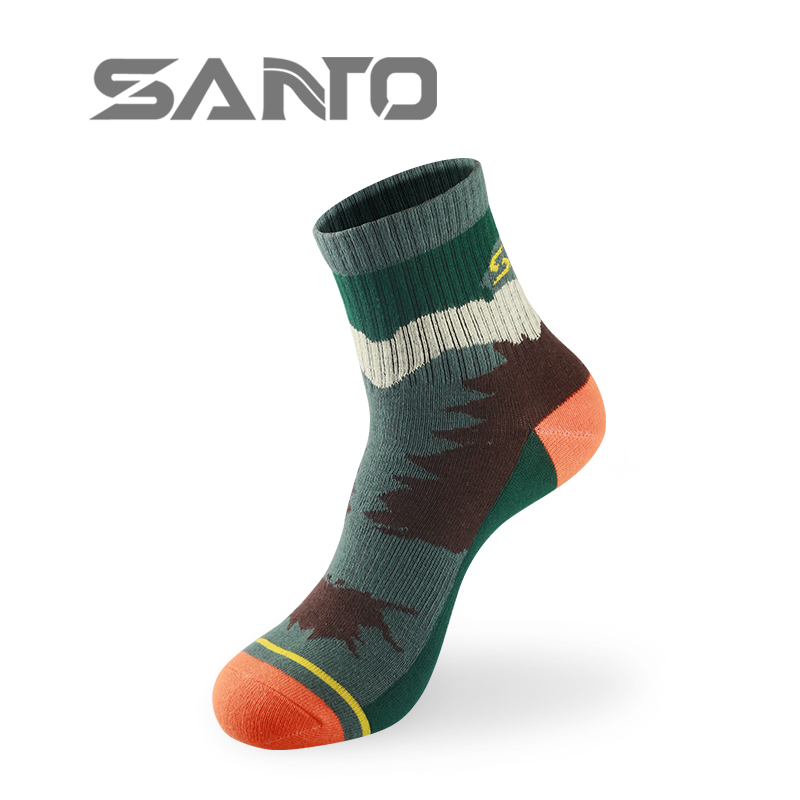 Brand SANTO Men outdoor socks walking hiking socks professional sport socks camping climbing socks size 39 to 42