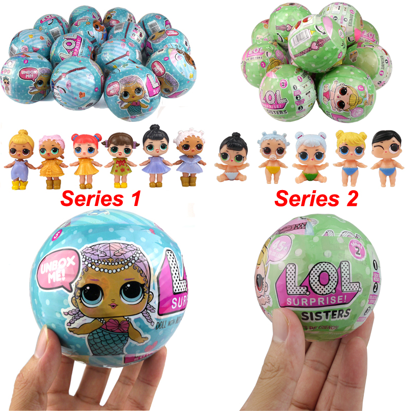 2017 New LOL Boneca Surprise Doll Series 1 Series 2 Magic Funny Unpacking Removable Egg Balls Dress Up Novelty Toys For Children lol surprise doll boneca funny dolls toys for children girl gift series 1