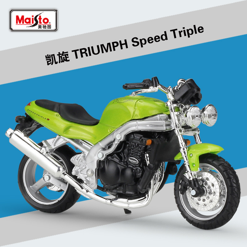 MAISTO 1:18 Scale TRIUMPH Thunderbird Motorcycle Diecast Metal Model New in Box