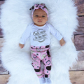 2016 Autumn New Kids Baby Girl Clothing Sets Cartoon Newborn Set Letter Romper+Pants+Hat+Headband 4Pcs Christmas Baby Girl Suit