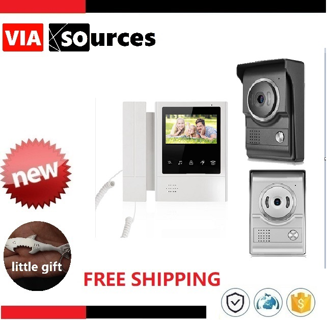 New Item Touch Key LCD Color Monitor 4.3 Video Door Phone Night Version IntercomDoorbell Home Security Video System 1V1New Item Touch Key LCD Color Monitor 4.3 Video Door Phone Night Version IntercomDoorbell Home Security Video System 1V1
