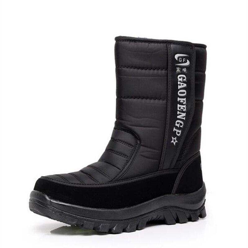 Hommes de neige bottes plate-forme de camouflage hommes chaussures d'hiver haute qualité chaud non-slip bottes imperméables pour-40 degré
