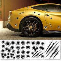 car sticker motorcycle Cool Funny Bullet Hole Pattern Car Motorcycle Helmet Bike D I Y Sticker Decal (1)