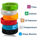 W2 Smartband Slim Smart Bracelet USB Wristwatch 3D Pedometer Sleep Temperature Calorie Monitor Time Display Fitness Sports Wrist