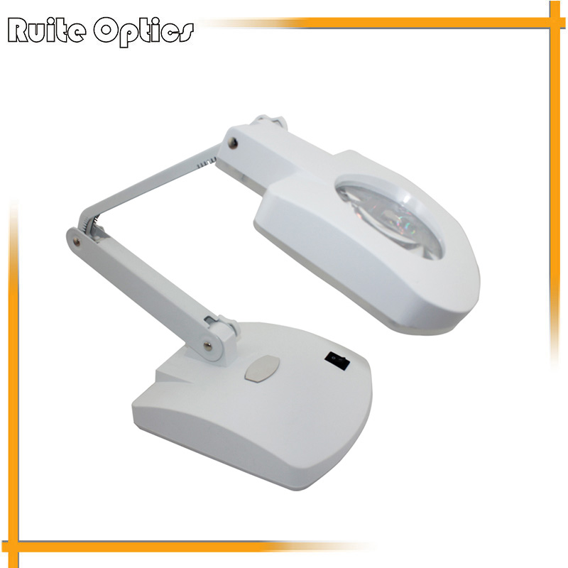 110V / 220V 3x 8x Desktop Acrylic Lens Magnifying Glass With LED Light Magnifier For Repairing 5lens led light lamp loop head headband magnifier magnifying glass loupe 1 3 5x y103