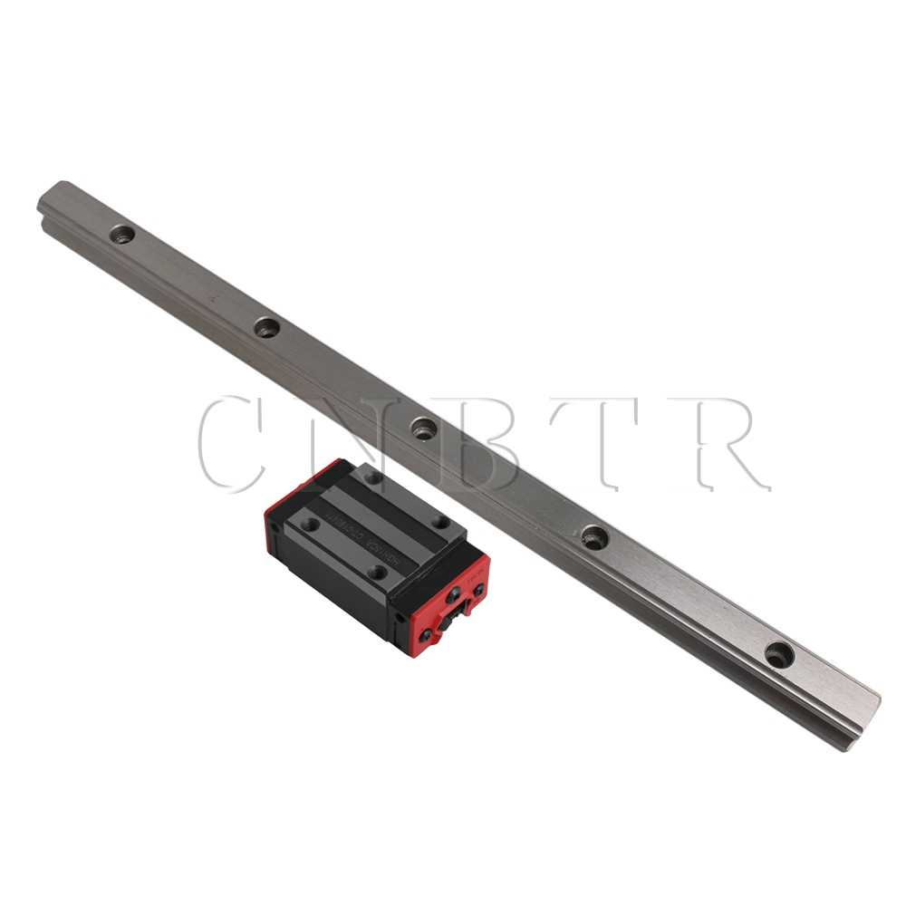 CNBTR 300mm Length HG15 Linear Rail Guide with 2Pcs HGH15CA Guide Rail Sliding Block for 3D Printer and Linear Motion CNBTR 300mm Length HG15 Linear Rail Guide with 2Pcs HGH15CA Guide Rail Sliding Block for 3D Printer and Linear Motion