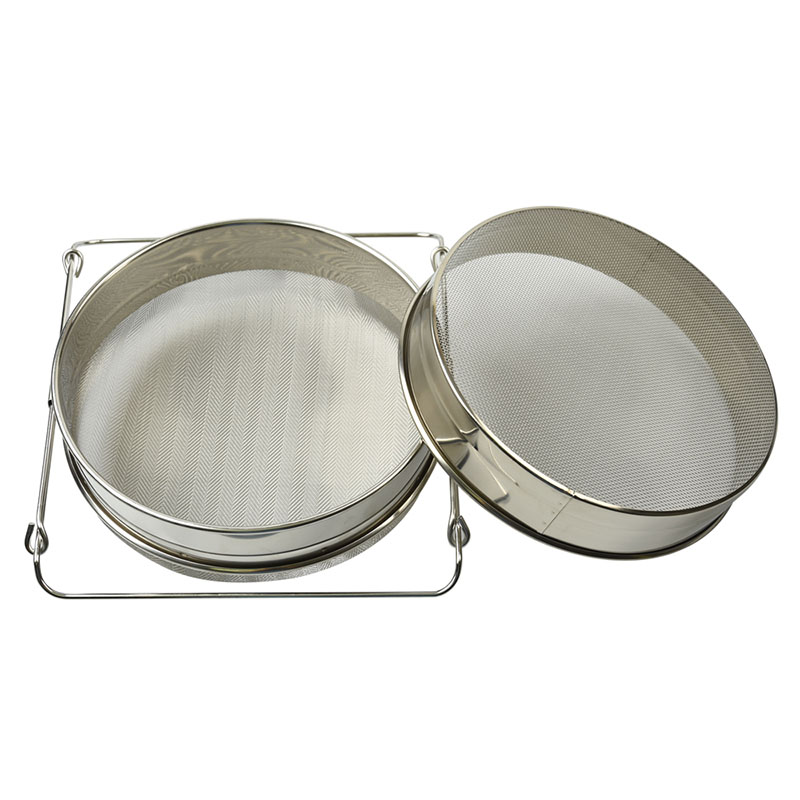 Image 2 - L Size Double layer Stainless Steel Honey Sieve Filtration Bee Honey Filter Strainer Machine Tool Extractor Beekeeping Tools AUG-in Beekeeping Tools from Home & Garden