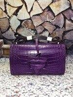 100% genuine crocodile skin leather women handbag with long crocodile skin strap shoulder bag cross body day small daily bag