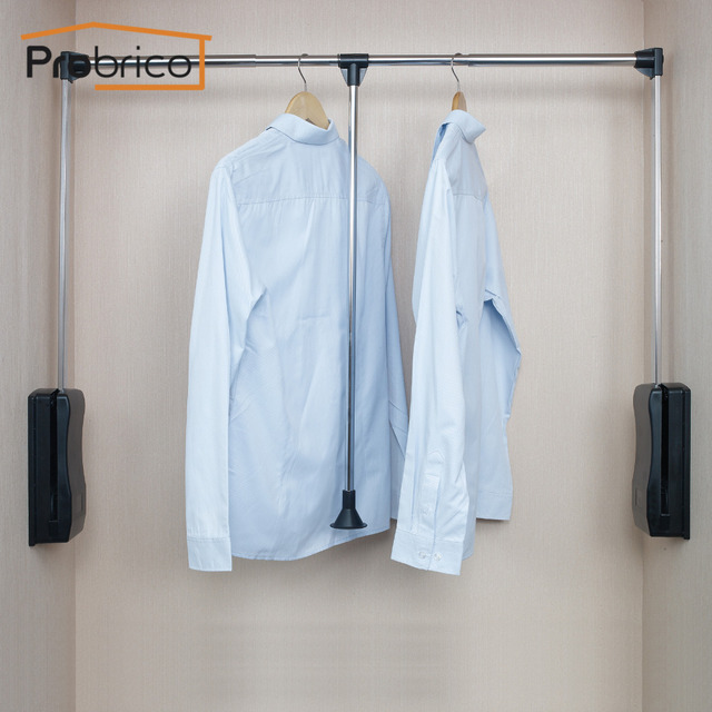 Probrico Wardrobe Lift Pull Down Rod Wardrobe System Closet Storage  Organizer Clothes Hanger Adjustable Pull