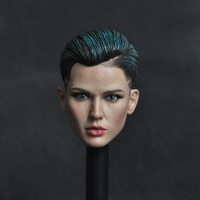Collectible 1/6 Scale Female Head Sculpt Neutral Handsome Agent Ruby Rose Head Carved Model for 12''Suntan Action Figures