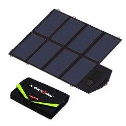 40 Вт панели солнечные зарядное устройство Портативный солнечные зарядные устройства 5 в 12 18 зарядки для Мобильные Телефоны Планшеты ноутбу...