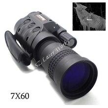 Cámara digital CCD Automático Inductivo Infrarrojo día noche gafas de visión monocular 7X60 alcance de caza venta caliente