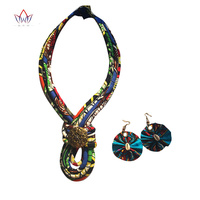 jewellery sets for women Rope Chain Statement necklace and earrings wedding jewelry african beads jewelry set BRW other WYB78