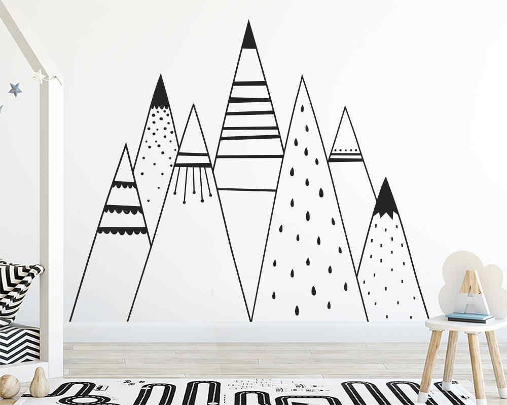 קריקטורה שבטי הרים ויניל קיר מדבקת קיר תפאורה לילדים חדר שינה תינוק חדר קישוט קיר מדבקות מדבקות ציורי קיר