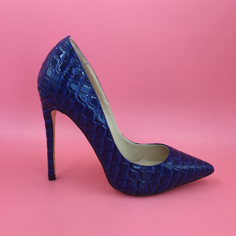 Royal Blue Pointed Toe High Heel Party Pump Shoes Womens Heels Pumps