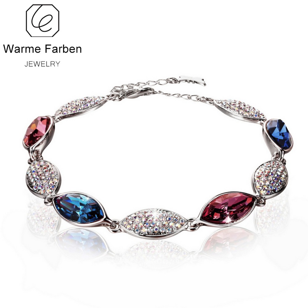 WARME FARBEN Jewelry Bracelets for Women Crystal from Swarovski Inlaid Colorful Bracelets Zircon Link Party Bangles Pulseiras дебби форд пробуждение или отключите автопилот isbn 985 483 260 0 0 06 008627 0