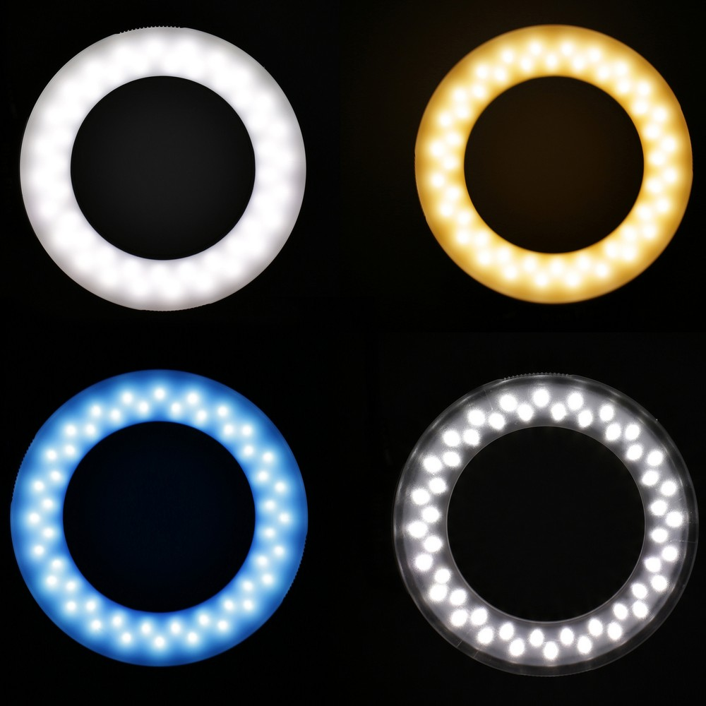 Travor RF 550D LED Macro Ring Flash light with 8 adapter ring For Nikon Canon Panasonic Camera 2