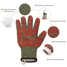 New1pair high temperature resistant 932F camouflage barbecue fire retardant fireproof gloves for barbecue oven microwave oven 500 degrees heat insulation gloves high temperature resistant gloves to hot flame retardant aluminum foil meta aramid fire luvas