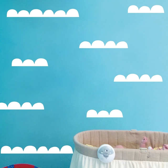 Half Moon Stripes Vinyl Wall Art Decals Nursery Decor Scandinavian Design Removable Cloud Stickers