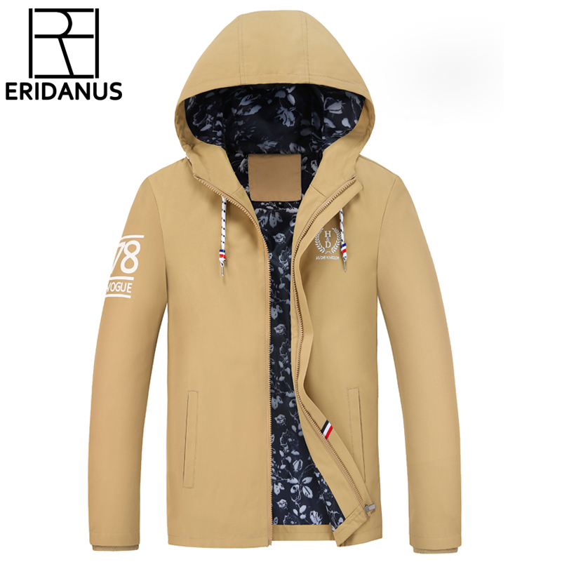 2017 Spring And Autumn New Men's Jacket Fashion Hooded Men Casual Thin Pure Color Windbreaker Zipper Coats M369