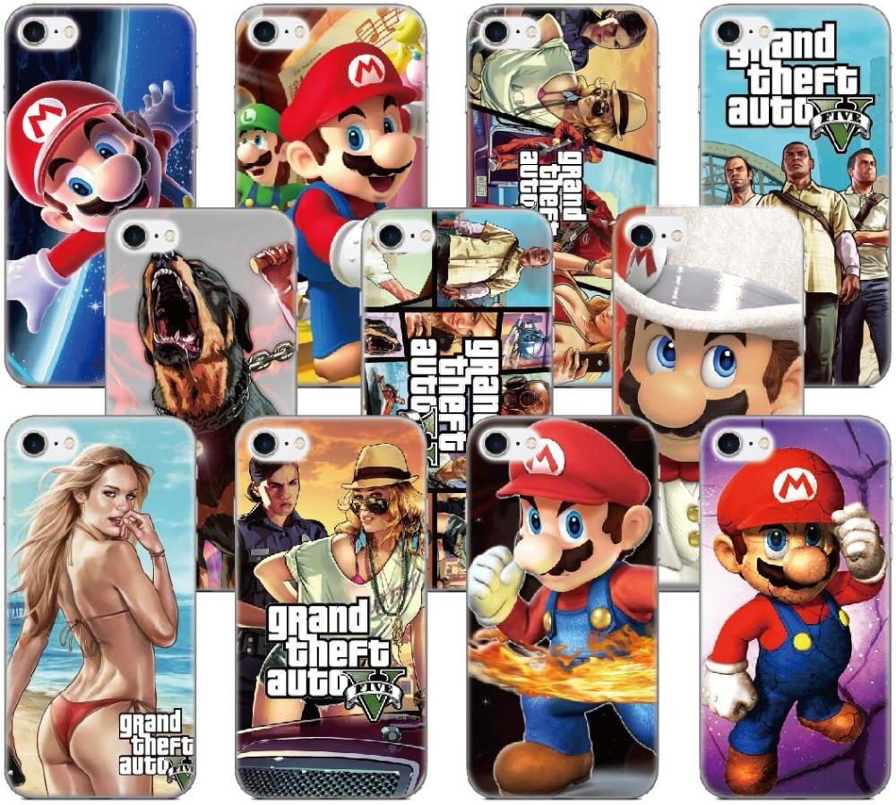 GTA Grand Theft Auto Marios Case For Samsung Galaxy J1 J3 J5 J7 A3 A5 A7 2016 Version J5 J6 J7 Prime Phone Cover Coque Capa