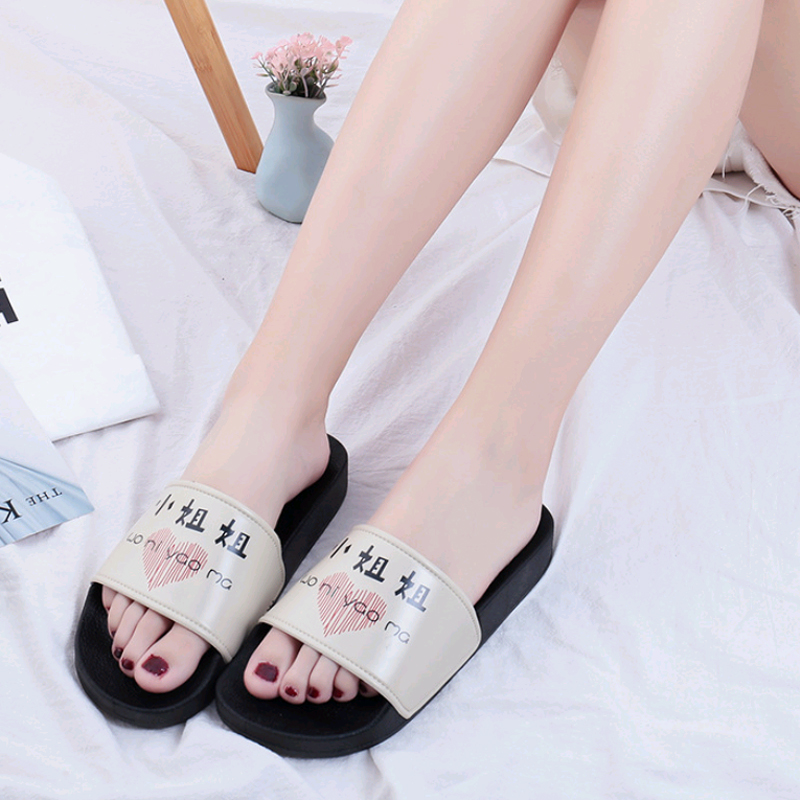 Women 39 s Slippers 2019 Summer Fashion Couples Home Flip Flops Sandals Women Indoor Outdoor Leisure Flat Beach Slippers Female in Slippers from Shoes