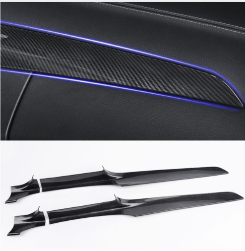 ABS Center Console Dashboard Trim Strips 2pcs For Mercedes Benz C Class W205 180 200 GLC X253 260 2015 18 LHD Carbon Fiber Color-in Car Stickers from Automobiles & Motorcycles    1